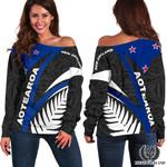 New Zealand Sky Women Off Shoulder Sweater K7 - 1st New Zealand