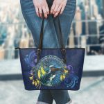 Tui Bird And Kowhai Flowers Small Leather Tote K7 - 1st New Zealand