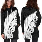 New Zealand Silver Fern Wing Hoodie Dress K4 - 1st New Zealand