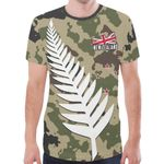New Zealand T-shirts Silver Fern Army Style TH5 - 1st New Zealand