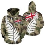 New Zealand Zip-Up Hoodie Silver Fern Army Style TH5 - 1st New Zealand