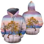 New Zealand Wanaka Painting Zip Hoodie K4 - 1st New Zealand
