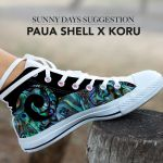 Paua Shell Koru New Zealand High Top Shoes K5 - 1st New Zealand