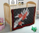 Silver Fern With Pohutukawa Quilt K57 - 1st New Zealand