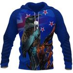 Tui Always in My New Zealand All Over Hoodie K4 - 1st New Zealand