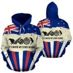 New Zealand Where My Story Begins Hoodie Blue K5 - 1st New Zealand