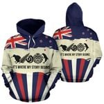 New Zealand Where My Story Begins Hoodie Navy 2 K5 - 1st New Zealand