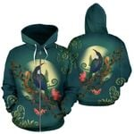 New Zealand Tui Bird Zip Hoodie A15 - 1st New Zealand