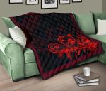 Silver Fern Style Red Quilt L15 - 1st New Zealand