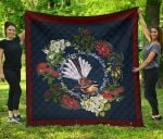 Piwakawaka With Flowers New Zealand Quilt K57 - 1st New Zealand
