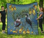 Tui Bird And Kowhai Flowers Quilt H45 - 1st New Zealand