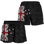 New Zealand Shorts, New Zealand Flag Women's All Over Print Board Shorts K413 - 1st New Zealand