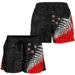 New Zealand Shorts, Silver Fern Women's All Over Print Board Shorts K413 - 1st New Zealand
