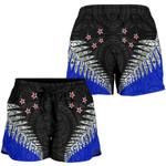 New Zealand Shorts, Silver Fern Waitangi Women's All Over Print Board Shorts K413 - 1st New Zealand
