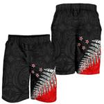 New Zealand Shorts, Silver Fern Men's All Over Print Board Shorts K413 - 1st New Zealand