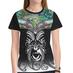 New Zealand Shirt, Maori Tattoo Moko Paua Shell T-Shirt K4 - 1st New Zealand