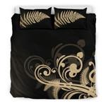 Silver Fern New Zealand Bedding Set Black x Golden L15 - 1st New Zealand