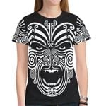 New Zealand Shirt, The Maori Moko Warface Tattoo T-Shirt K5 - 1st New Zealand