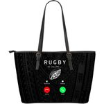 Rugby Is Calling Large Leather Tote Bag K47 - 1st New Zealand
