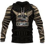 Rugby Aotearoa Tattoo Style All Over Hoodie K4 - 1st New Zealand
