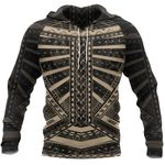 Polynesian Tattoo All Over Hoodie Gold K4 - 1st New Zealand
