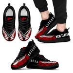 New Zealand Sneakers, Maori Silver Fern Tattoo Trainers K47 - 1st New Zealand