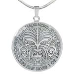 New Zealand Moko Coin Necklace K4 - 1st New Zealand
