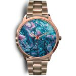 New Zealand Paua Shell Rose Gold Watch K4 - 1st New Zealand