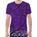 New Zealand Paua Shell T Shirt Purple K4 - 1st New Zealand
