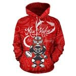 Rugby Kia Kaha Be Strong Hoodie Red K4 - 1st New Zealand