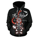 Rugby Kia Kaha Be Strong Zip Up Hoodie Black K4 - 1st New Zealand
