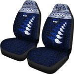 New Zealand Maori Silver Fern Car Seat Covers K47 - 1st New Zealand