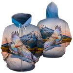 New Zealand Parrot Couple Zip Up Hoodie Kea Bird K4 - 1st New Zealand