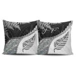 Signature Custom, Paua Shell Maori Silver Fern Pillow Cover K5
