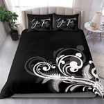 Signature Custom, Silver Fern New Zealand Bedding Set Black L15