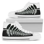 Silver Fern High Top Shoes Black White K4 - 1st New Zealand