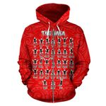 Rugby Haka Dance Zip Up Hoodie Red - 1st New Zealand