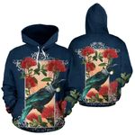 Tui and Pohutukawa New Zealand Hoodie K54 - 1st New Zealand