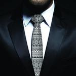 New Zealand Neck Tie, Maori Pattern Classic Necktie (Two Sides) 26 K4 - 1st New Zealand