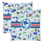 New Zealand Symbols Pillow Cover K5 - 1st New Zealand
