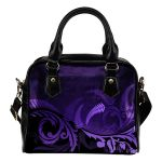 Silver Fern Shoulder Handbag Purple - 1st New Zealand