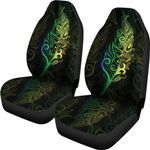 New Zealand Maori Silver Fern Car Seat Covers K5 - 1st New Zealand