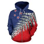 New Zealand Silver Fern Zip Up Hoodie Red K4 - 1st New Zealand