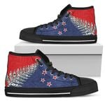 Silver Fern Flag High Top Shoe Red K4 - 1st New Zealand
