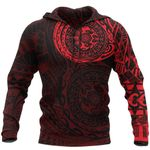 Polynesian Tattoo All Over Hoodie - Red A7 - 1st New Zealand