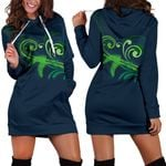 New Zealand Silver Fern Hoodie Dress Green - 1st New Zealand
