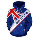 New Zealand National Flag Zip Up Hoodie - 1st New Zealand