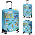 New Zealand Symbols Luggage Cover, New Zealand Suitcase Covers K5 - 1st New Zealand