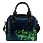 New Zealand Silver Fern Shoulder Handbag Green - 1st New Zealand