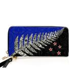 New Zealand Silver Fern Leather Wallet K4 - 1st New Zealand